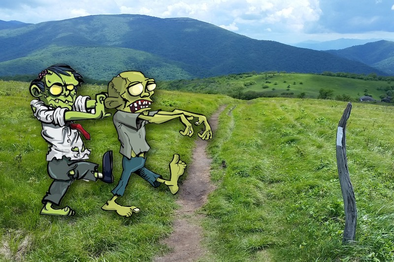 Zombies don't thru-hike... so one of the safest places during the next zombie-pandemic will be the AT